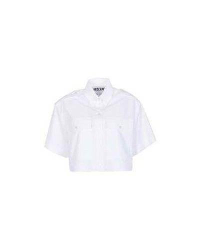 Белая блузка сафари Moschino
