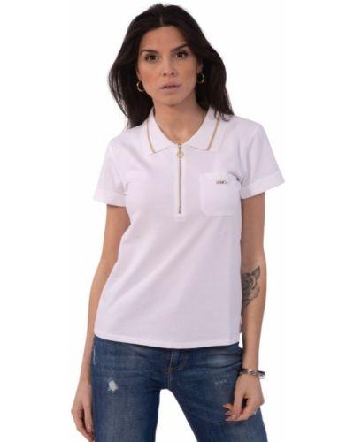 Biała t-shirt na lato Liu Jo
