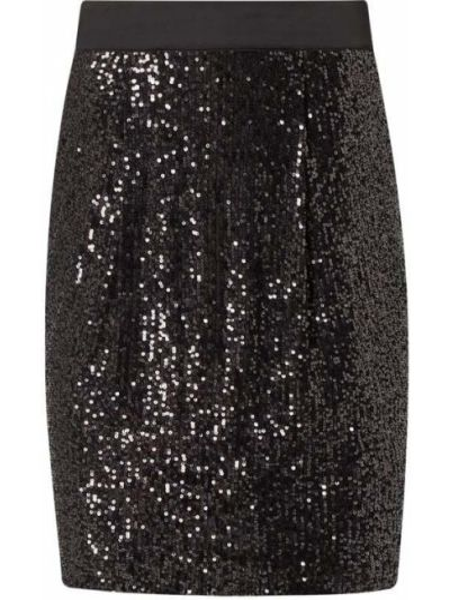 Czarna spódnica mini z cekinami Boss Casualwear