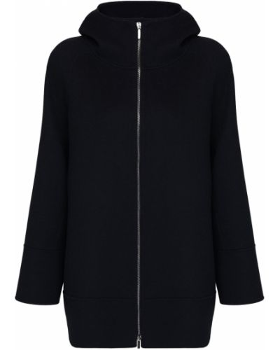 Шерстяная черная куртка с капюшоном 's Max Mara