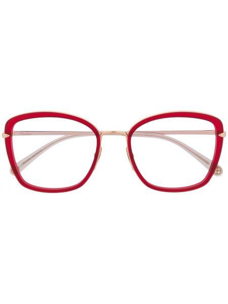 Złote oprawka do okularów - khaki Pomellato Eyewear