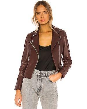 Кожаная куртка на молнии с карманами Allsaints