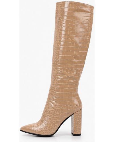 Кожаные сапоги - бежевые Diora.rim