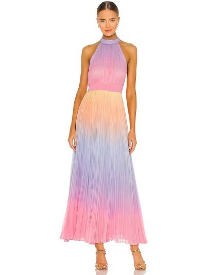 Розовое вечернее платье с вышивкой из вискозы Rococo Sand