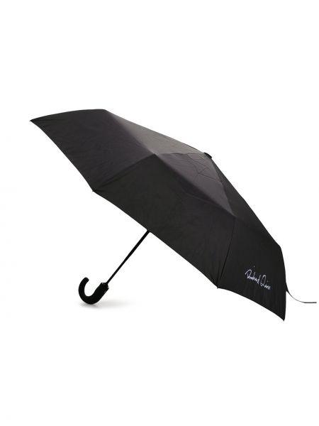 Z paskiem włókienniczy czarny parasol Richard Quinn