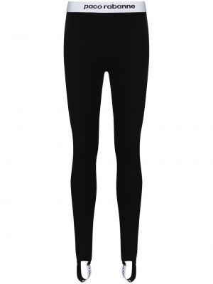 Черные спортивные брюки с нашивками из вискозы Paco Rabanne