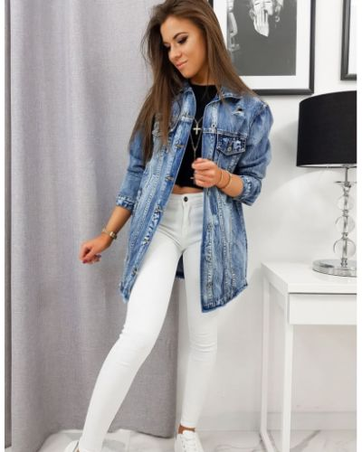 Niebieska kurtka jeansowa bawełniana Dstreet