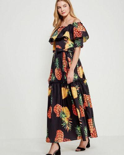 Платье осеннее черное Marissimo