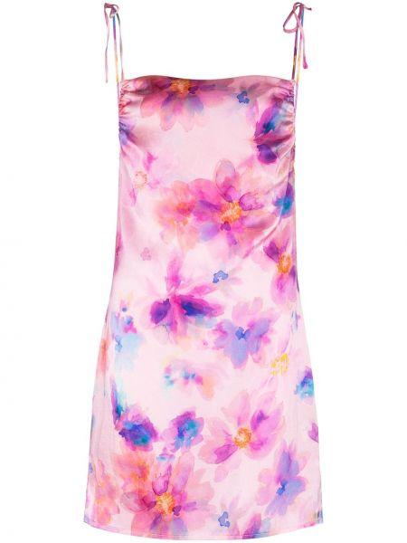 Розовое платье мини с вырезом квадратное Frankie's Bikinis