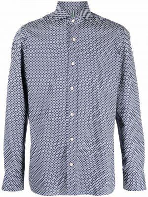 Niebieska koszula zapinane na guziki Borrelli