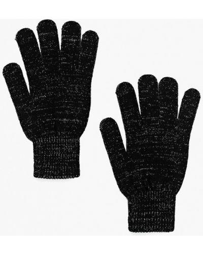 Черные перчатки текстильные Incity