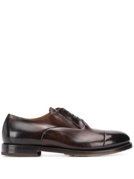 Массивные кожаные коричневые оксфорды на шнуровке Silvano Sassetti