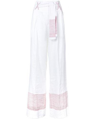 Льняные свободные брюки свободного кроя Gül Hürgel