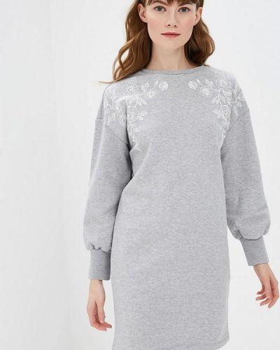 Платье серое Ostin