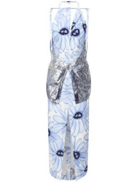 Платье миди с открытой спиной с цветочным принтом Jacquemus