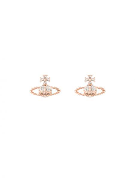 Серьги-гвоздики золотые Vivienne Westwood