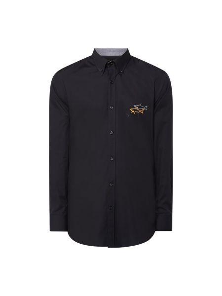 Czarna koszula z długimi rękawami Paul & Shark