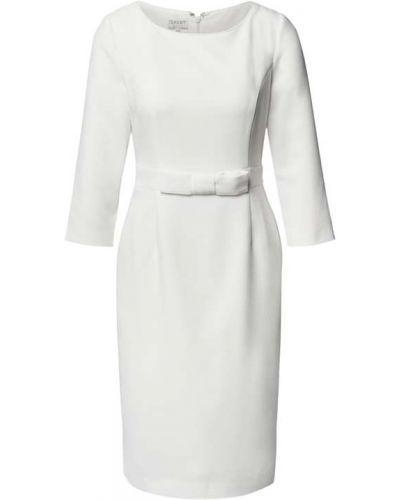 Biała sukienka z wiskozy Apart Glamour