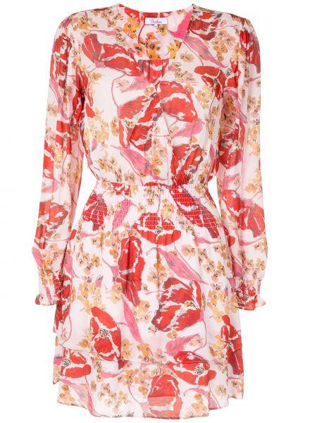 Платье макси с длинными рукавами - розовое Parker