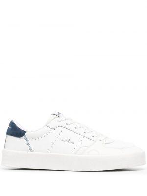 Кожаные белые кроссовки на шнурках Moa Master Of Arts