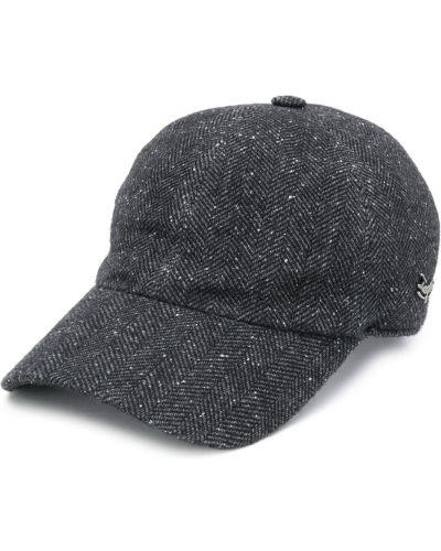 Серебряная бейсбольная кепка металлическая Ermenegildo Zegna
