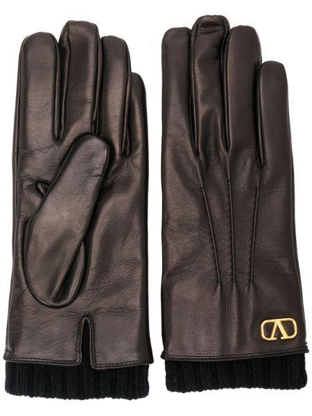 Wełniany czarny rękawiczki Valentino