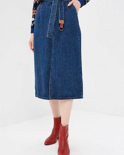 Джинсовая юбка - синяя Marissimo