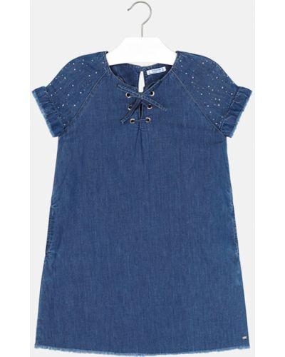 Платье с рукавами короткое джинсовое Mayoral