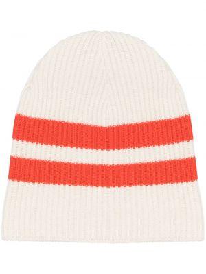 Кашемировая вязаная шапка бини в рубчик без застежки Cashmere In Love