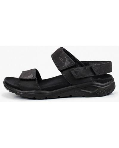 Черные кожаные сандалии Ecco
