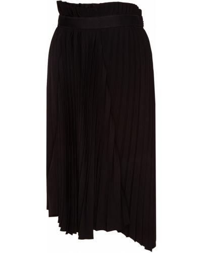 Плиссированная юбка миди с воланами Balenciaga