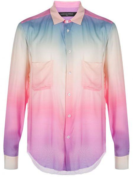 Fioletowa klasyczna koszula z długimi rękawami z wiskozy Garçons Infideles
