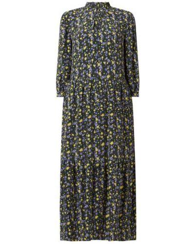 Sukienka midi w kwiaty - niebieska Marc O'polo Denim