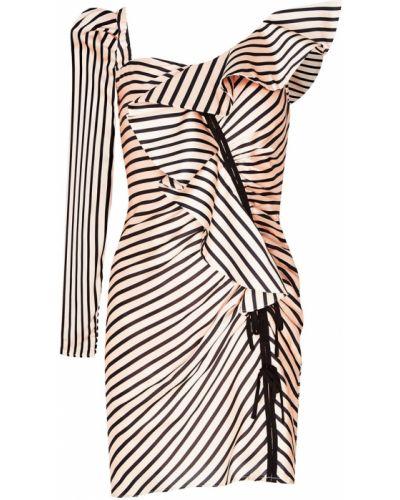Платье мини коктейльное в полоску Self-portrait