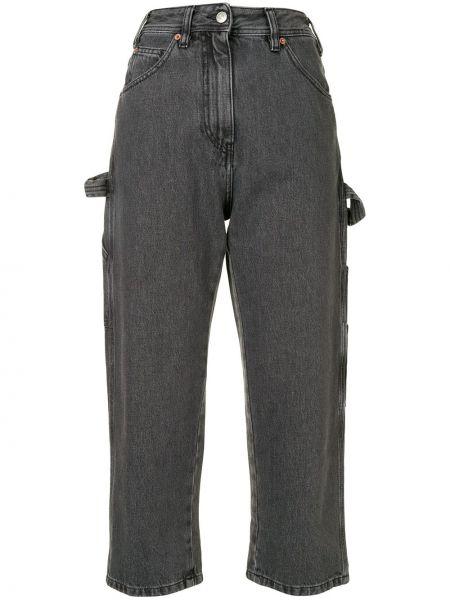 Bawełna prosto bawełna jeansy do kostek z kieszeniami Mm6 Maison Margiela