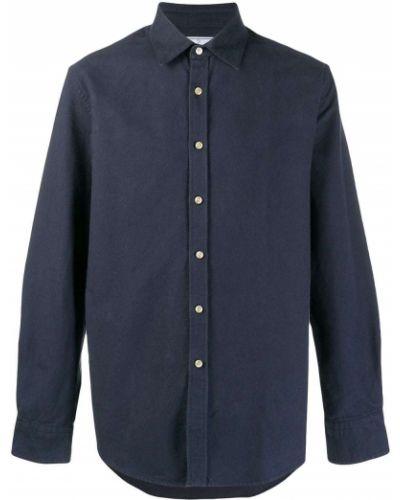 Темно-синяя фланелевая классическая рубашка с воротником с манжетами Portuguese Flannel