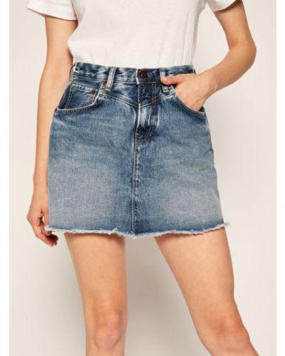 Spódnica jeansowa - granatowa Pepe Jeans