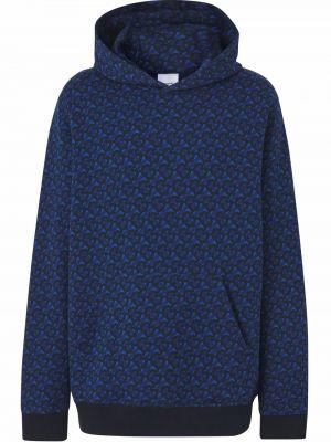 Niebieska klasyczna bluza Burberry