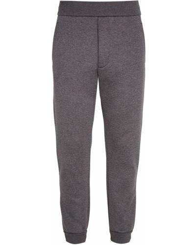 Спортивные брюки с карманами серые Prada