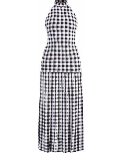 Платье макси с американской проймой в клетку Sonia Rykiel