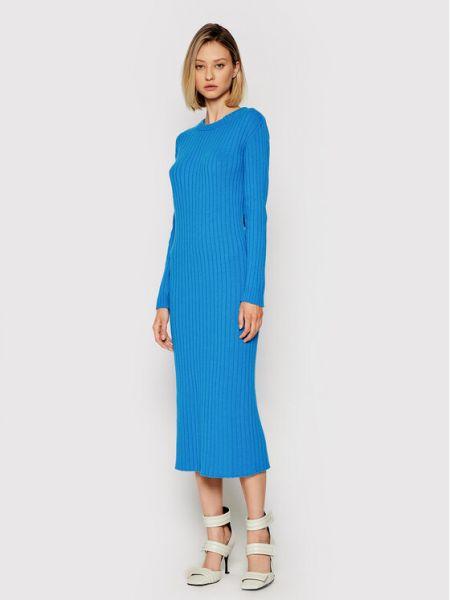 Niebieska sukienka dzianinowa Liviana Conti
