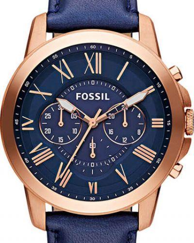 Кварцевые часы с кожаным ремешком американские Fossil