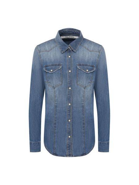Хлопковая синяя джинсовая рубашка с запахом Two Women In The World