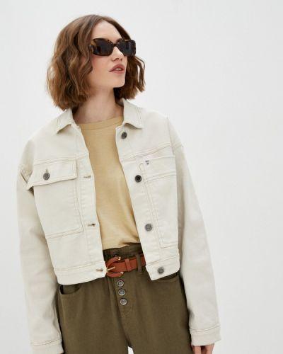 Белая джинсовая куртка Unq