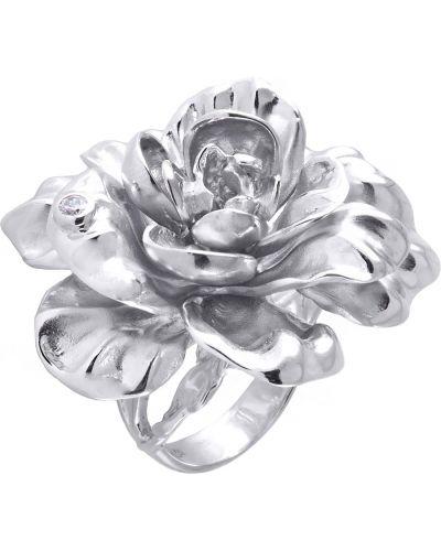 Массивное серебряное кольцо с фианитом альдзена