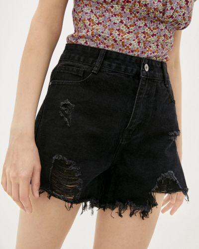 Черные джинсовые шорты Adrixx