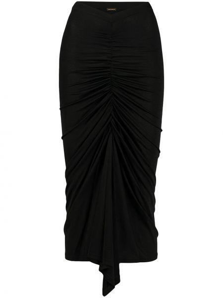 Черная с завышенной талией юбка с оборками с драпировкой Dodo Bar Or