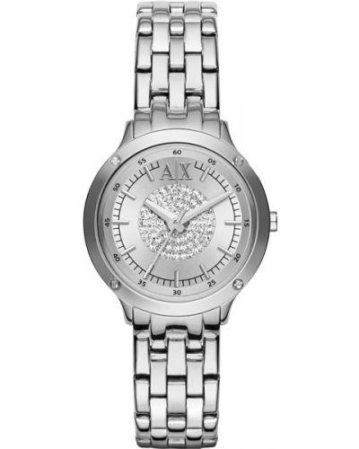 Кварцевые часы водонепроницаемые с камнями Armani Exchange