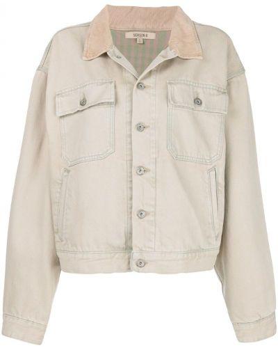 Хлопковая джинсовая куртка - бежевая Yeezy