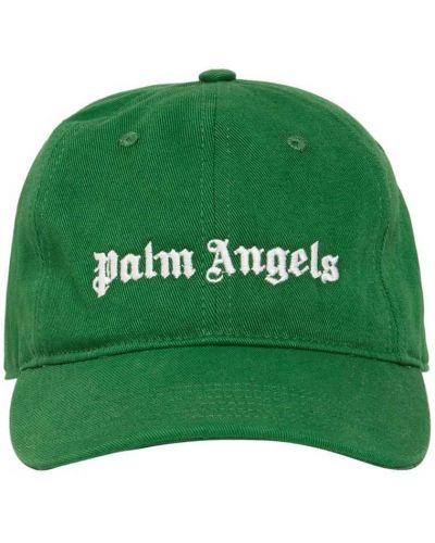 Zielona czapka z haftem Palm Angels